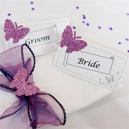 butterfly wedding theme centerpieces | Butterfly Themed Place Cards, Ruth & Jason's Wedding - Real Wedding