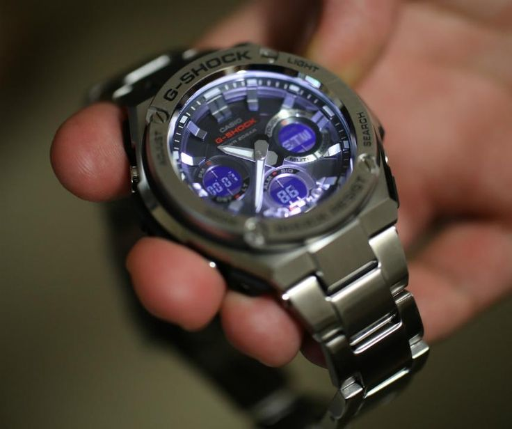 """Casio G-Shock G-Steel GSTS110D-1A Watch Review - by Bilal Khan - see & read all about this """"grown-up"""" G-Shock on aBlogtoWatch.com """"A Casio G-Shock that offers analog time display, packs most functions you could possibly need, comes in steel on a bracelet and has a truly affordable price to boot? It's here, it's called the Casio G-Shock G-Steel GSTS110D-1A, and I was excited to see how this arguably more grown-up G-Shock faired on a day-to-day basis..."""""""