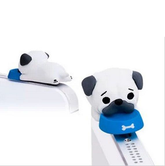 Adorable Pet Bowl White Pug Pet Dog Puppy Dust Plug 3.5mm Cell Phone Plug iPhone 4 4S 5 5S Dust Plug Samsung Charm Headphone Jack Ear Cap on Etsy, $4.98