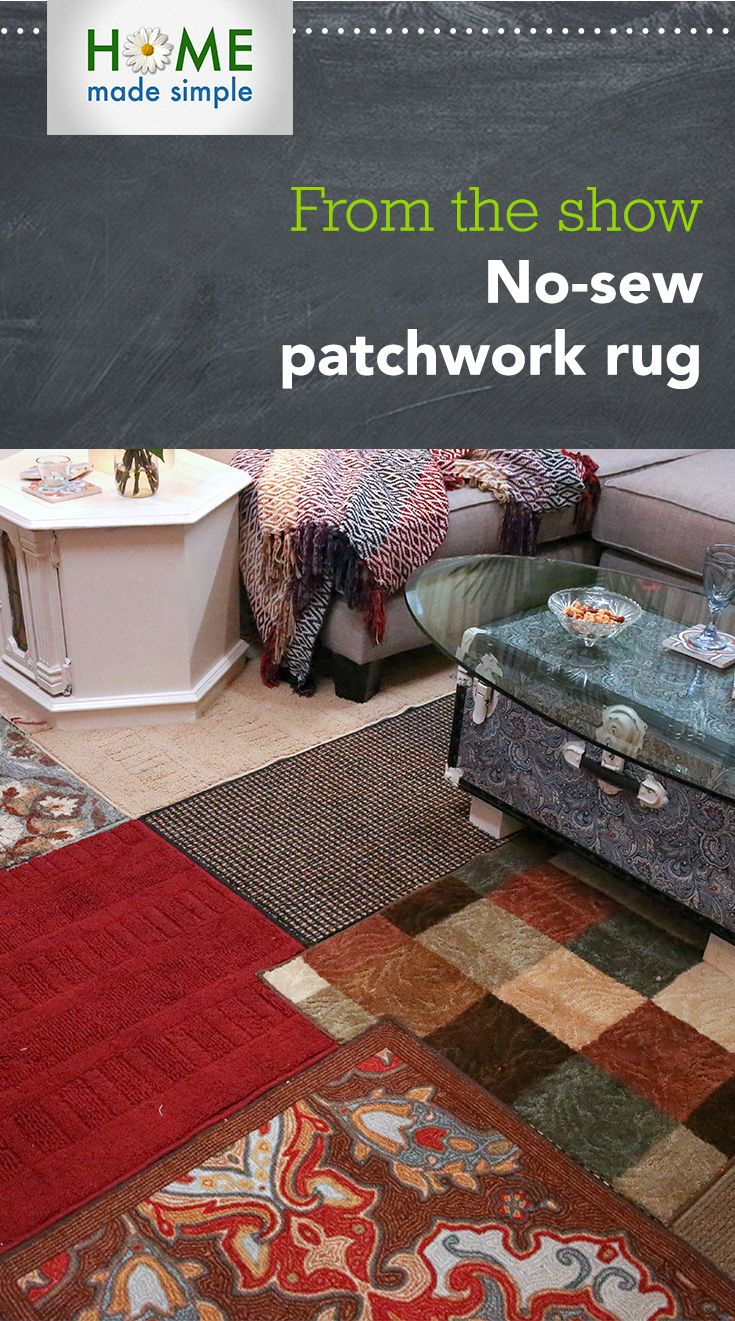 207 best from the tv show projects images on pinterest wall create a boho chic statement with your home dcor by making this diy no sew patchwork rug for more do it yourself projects watch home made simple solutioingenieria Image collections