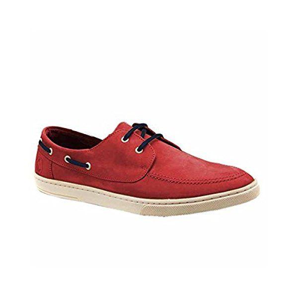 Zapato Nautico Rojo Nobuk de El Ganso Calzado - Size - 40