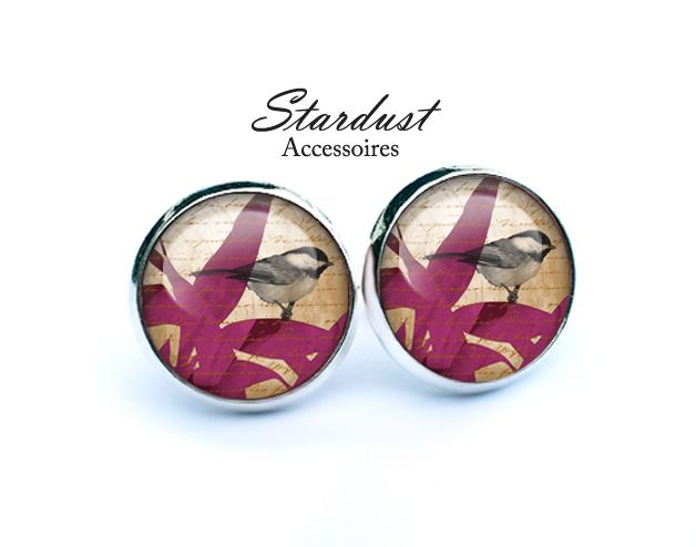Ohrstecker silber ✿ Vögelchen ✿ von Stardust Accessoires auf DaWanda.com