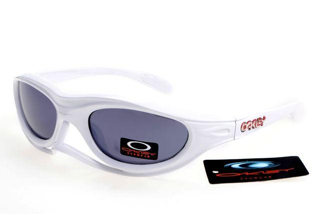 Oakley Crankcase Sunglasses White Frame Gray Lens 0183