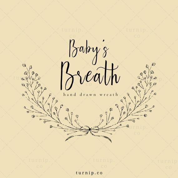 Wedding Wreath Clipart Baby S Breath Wreath Clip Art Etsy Wreath Clip Art Baby Clip Art Babys Breath