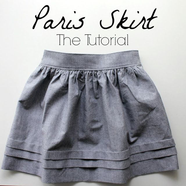 Different sewing tutorials, for different skirts! I love the paris one and the tulip skirt!