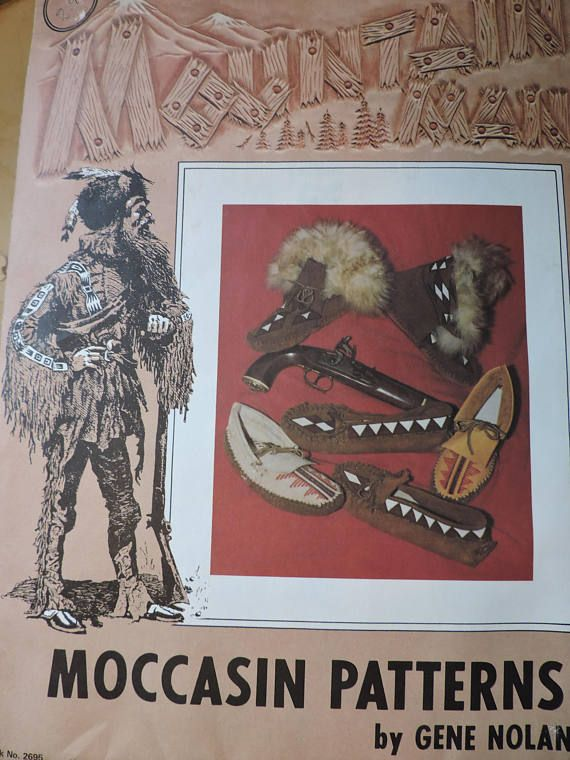 Mountain Man Moccasin 3 Moccasins Styles Patterns by Gene