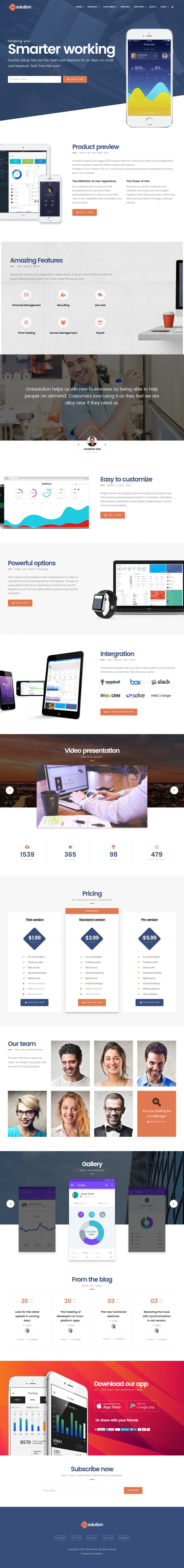 OneSolution – Application Showcase