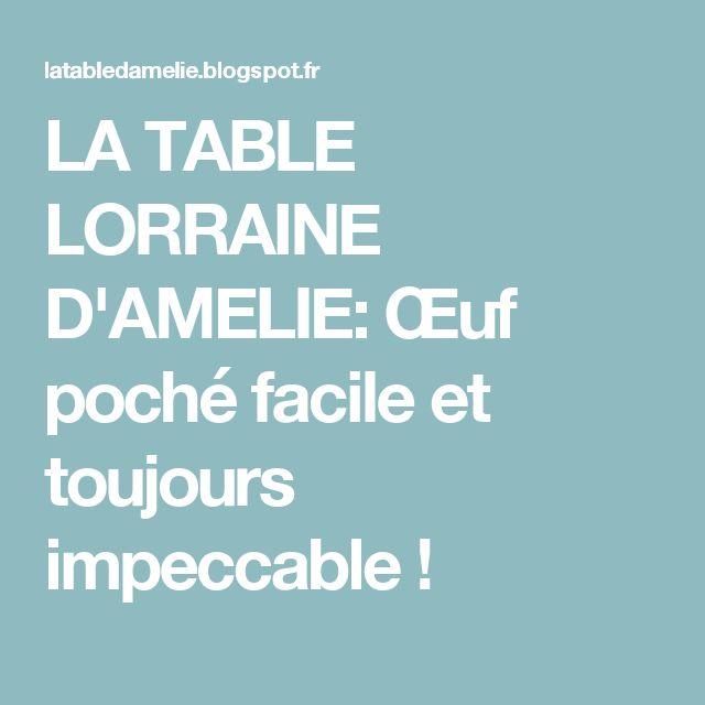 LA TABLE LORRAINE D'AMELIE: Œuf poché facile et toujours impeccable !