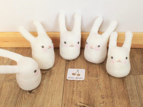 Alice Balice DIY - Lapins chaussettes peluches doudou