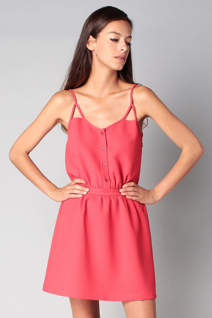 Robe à bretelles rouge Kakko Candicette