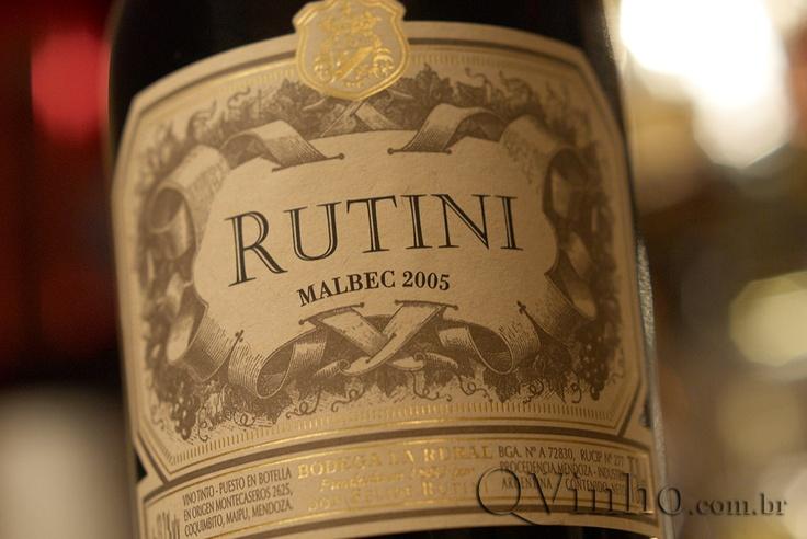 Rutini malbec, baita vinho