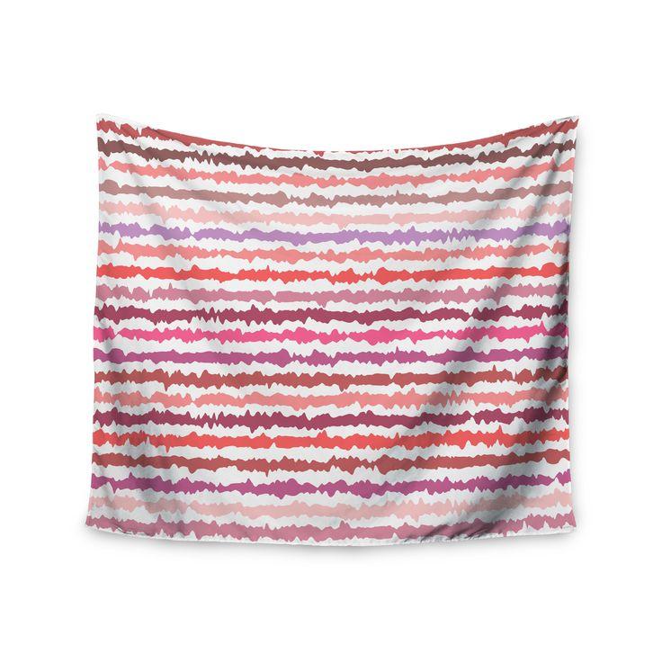 """Nandita Singh """"Blush Stripes"""" Pink Striped Wall Tapestry"""