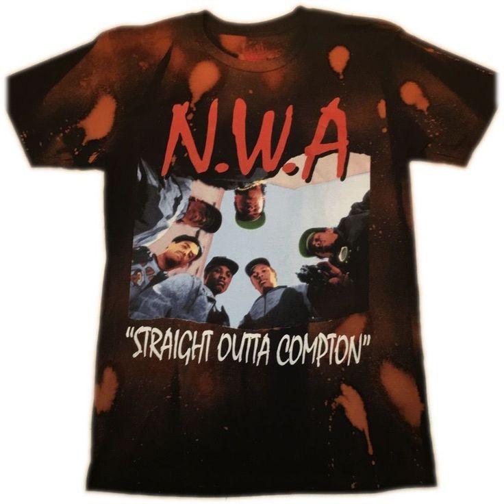 "Hand Bleached NWA ""Straight Outta Compton"" Band Tee"