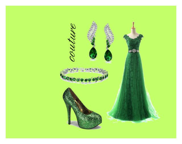"""""""green couture"""" by corien-1 ❤ liked on Polyvore featuring Bling Jewelry, Bordello, women's clothing, women, female, woman, misses and juniors"""