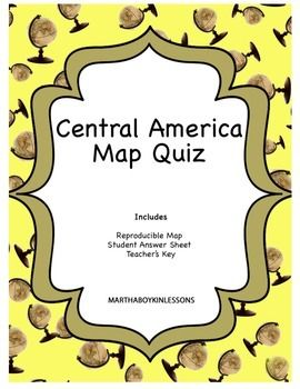Middle School Geography: Central America Map Quiz | Middle School ...