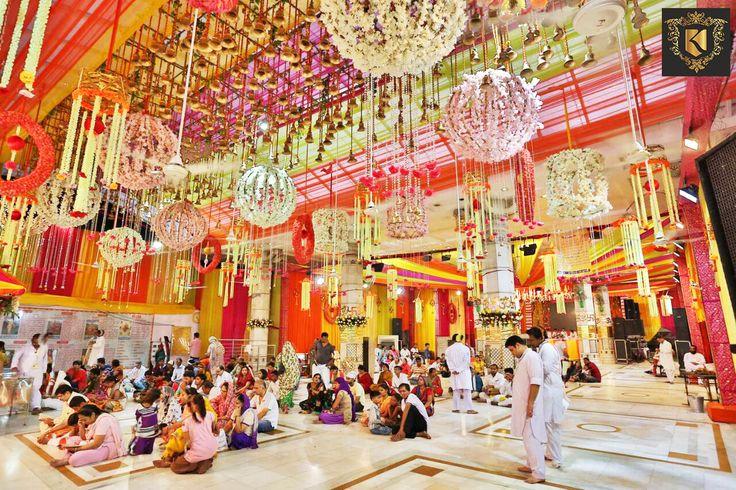 Led #Decorative #Flower #Lights at Jhandewalan Temple by #SanjeevKohli