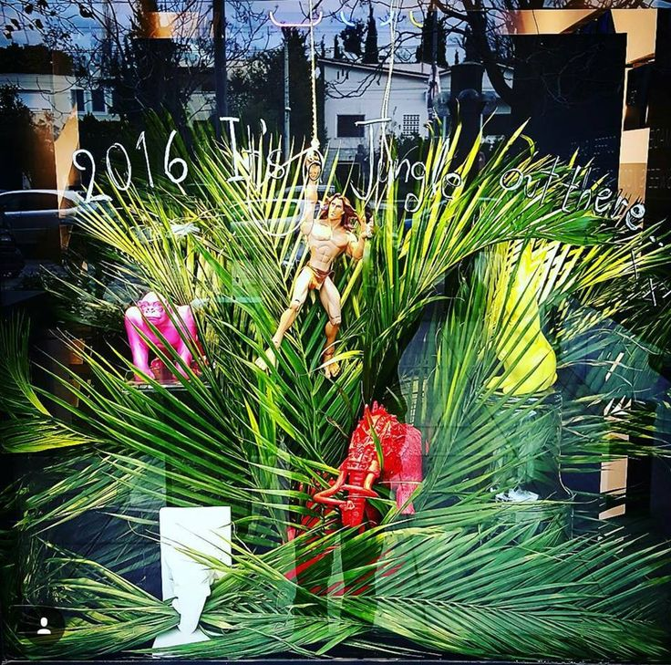 JUNGLE OUT THERE display window