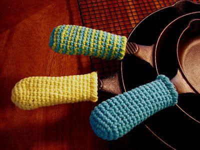 Vanecroche e patch: Proteção croche para cabo de panela com passo a passo