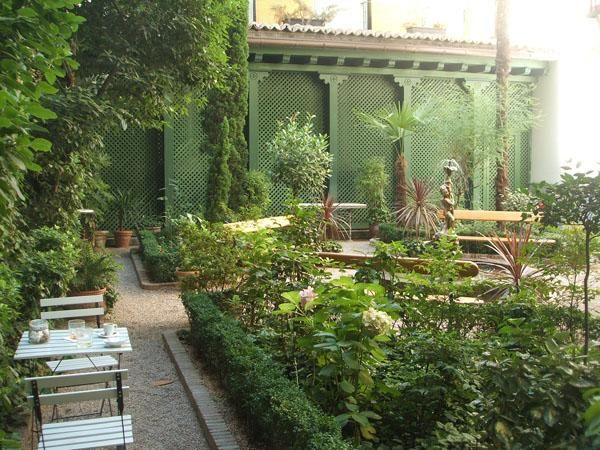 61 best jardin café images on Pinterest | Garden cafe, Balconies and ...