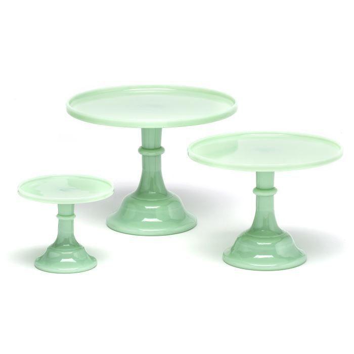 Colored Milk Glass Cake Stand