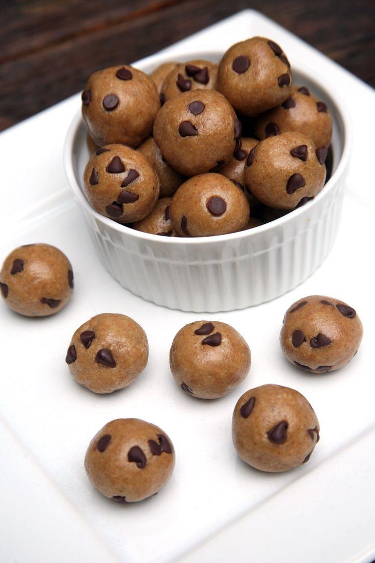 Chocolate Chip Cookie Dough Balls | POPSUGAR Fitness