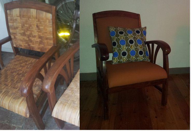 Avant/après d'un fauteuil style colonial