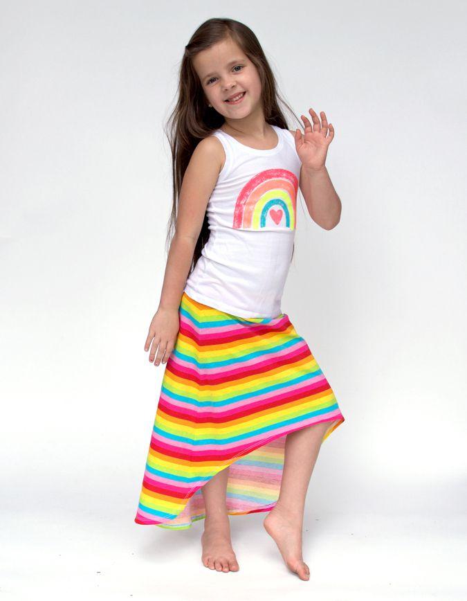 Hi Low Maxi Skirt Free Tutorial and Pattern