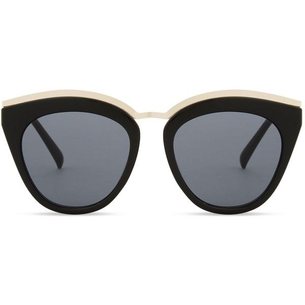 Le Specs Eye slay cat-eye sunglasses found on Polyvore featuring accessories, eyewear, sunglasses, le specs, le specs sunglasses, lens glasses, cat eye sunglasses and uv protection sunglasses