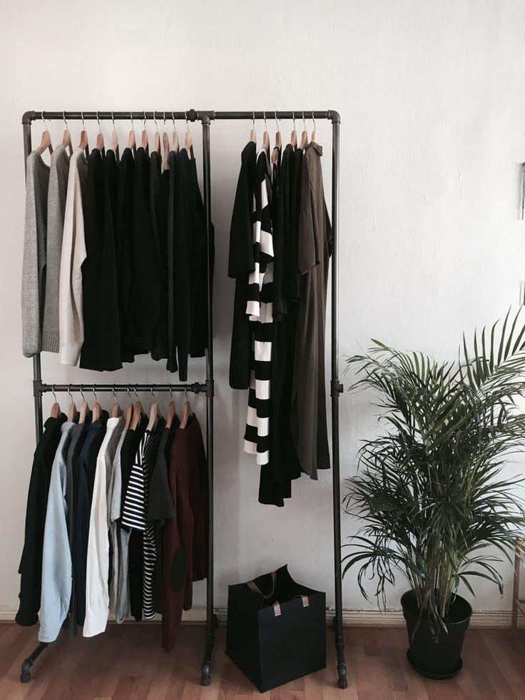 Doube tøjstativ fra rackbuddy - industrielt design - sorte rør