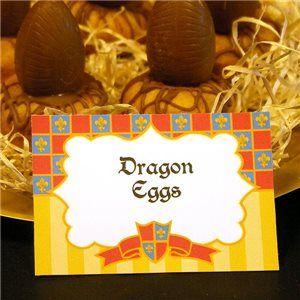 Castle Party Food Tags, castle party ideas