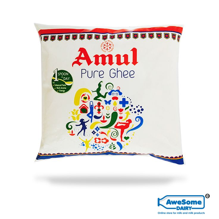 Amul: Amul is the leading brand in India for its food products and the beverage products and is known for high-quality milk and milk products.  Amul Cow Ghee: Amul Cow ghee is made from 100% cow's milk. It has a typical rich aroma and a granular texture. Ghee is an ethnic product made by dairies with decades of experience. The net weight of the pack is 500ml .