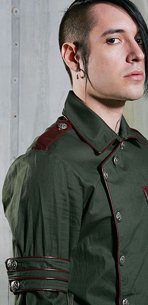 Button Front Breast Pocket Das Bunker Lip Service shirt #mens #military #industrial