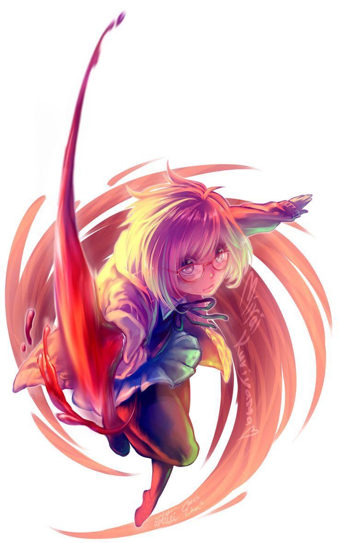 Cute Chibi Anime Desktop Wallpaper Kyoukai No Kanata Mirai Kuriyama By Cherubchan Deviantart