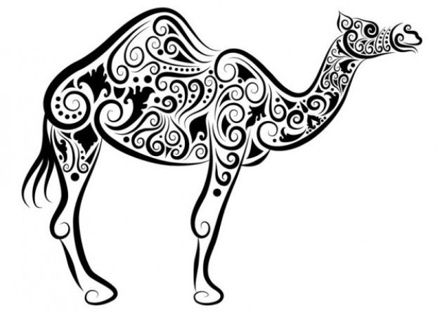 hand painted animal pattern vector
