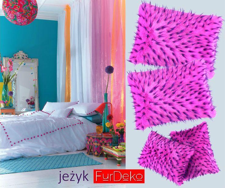 Masz kolorowy pokój? Dzięki intensywnym kolorom, poduszka JEŻYK FurDeko podkreśli wyjątkowość wielobarwnego wnętrza. POLECAMY --> http://bit.ly/1MnOGFr.  www.FurDeko.pl