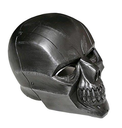 Black Mask Roman Sionis Deluxe PVC Full Face Helmet Cosplay Skull Mask Adult Painted