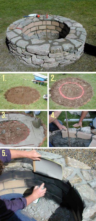 Bauen Sie Ihren eigenen Kamin im Garten: 27 coole Projekte folgen