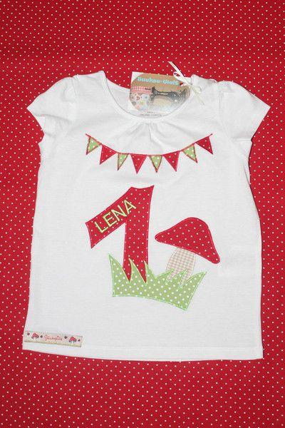 Geburtstags-Shirt+Glückspilz+von+Suehse-Welt+auf+DaWanda.com