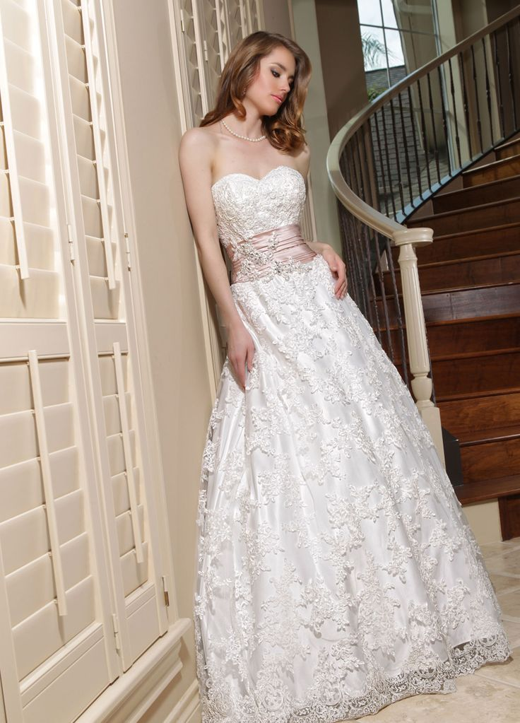 Amazing Davinci Wedding Dresses Style I would need a lace jacket or something to cover my shoulders but I do love the lace in this gown