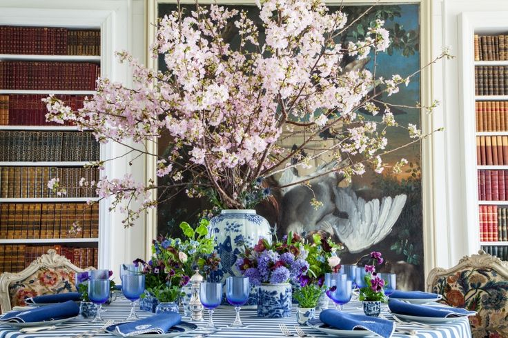 """The First """" Somewhat"""" Spring Dinner of the Season!   Carolyne Roehm"""