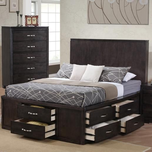 Dublin Queen Panel Wood Bed W/ Storage By Private Reserve At Walkeru0027s  Furniture