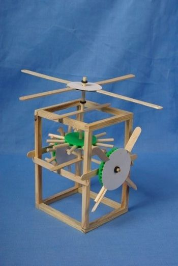 Physics :: Force and mechanical :: Gear Windmill - DIY Toys World