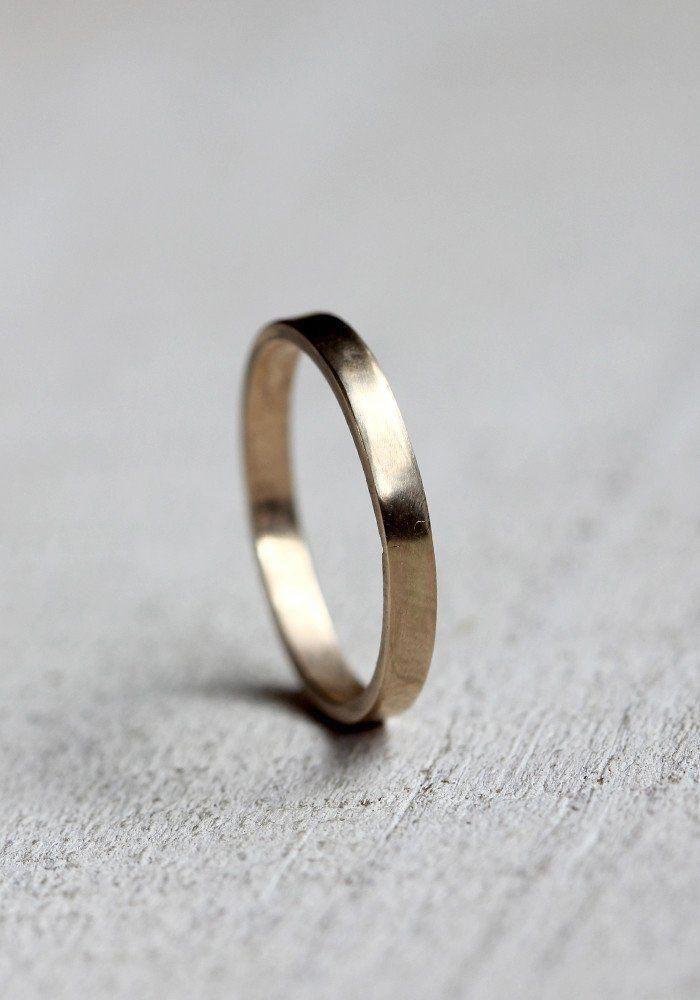 Simple Solid 14k Gold Ring Weddingringsgoldsimple