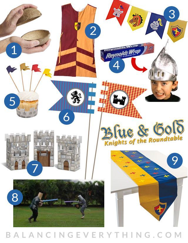 357 best cub scouts blue gold images on pinterest knights medieval party and middle ages - Knights of the round table lego ...