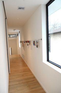 Calming Modern Urban Oasis - hall - austin - Kara Mosher
