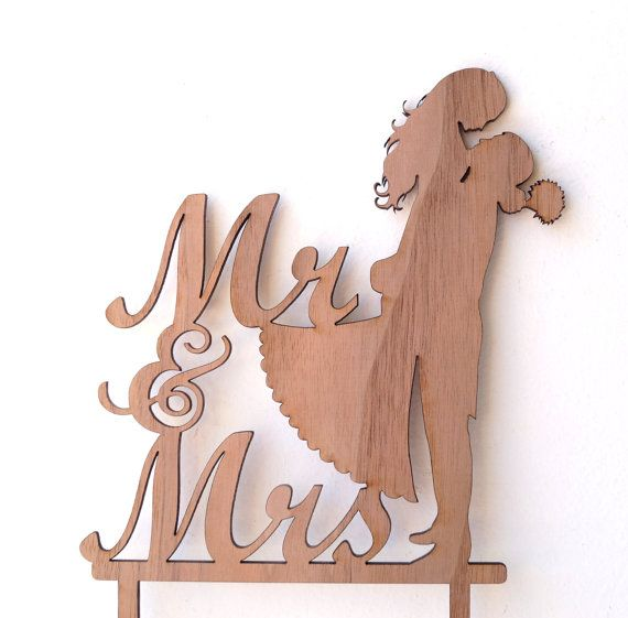 Rustic Mr and Mrs cake topper, wooden cake topper, We offer this cake topper in…