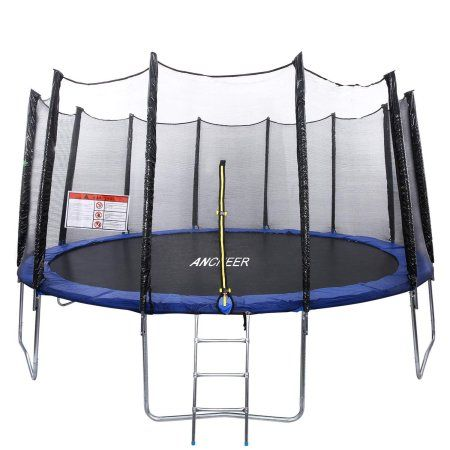 Buy 15 14 12 FT Trampoline with Enclosure net and poles Safety Pad Ladder MAEHE at Walmart.com