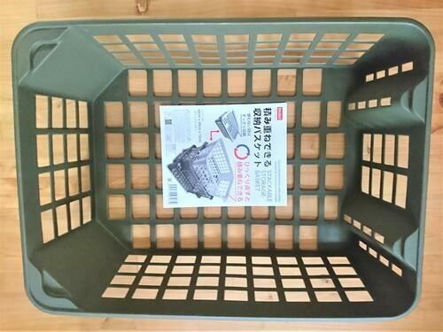 ダイソーの 積み重ねできる収納バスケット は大容量の収納カゴ 暮らしの知識 オリーブオイルをひとまわし バスケット 収納 収納 トイレットペーパー 収納