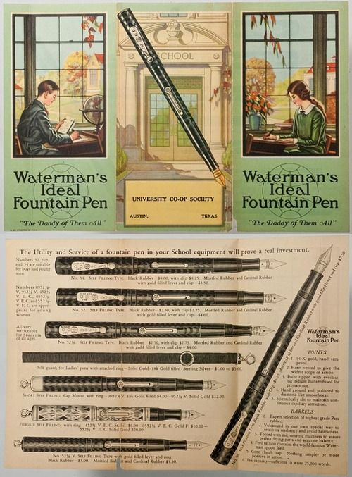 Fountain Pen Advertisements A Collection Of Products