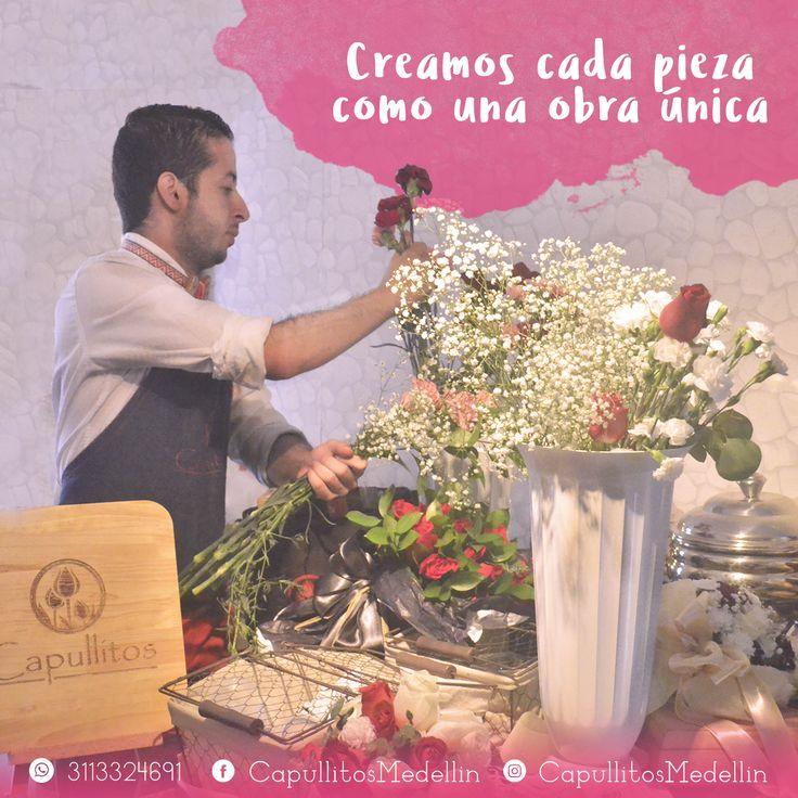 Somos un taller especializado en crear regalos únicos con las flores que se transforman en experiencias. Taller floral Capullitos en Medellín - Colombia.